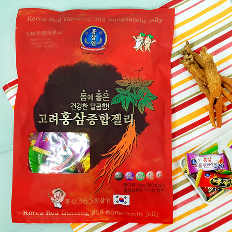 고려홍삼 종합제리(젤리) 700g, Korean Red Ginseng jelly variety pack 700g