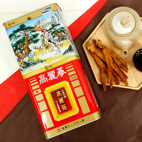 [지삼] 6년근 고려홍삼 30지 600g, [Earth Grade Ginseng] 6-year-old Korean Red Ginseng  30 pieces 600g